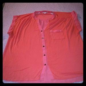 $FINAL$ Forever 21 Coral button down shirt XL